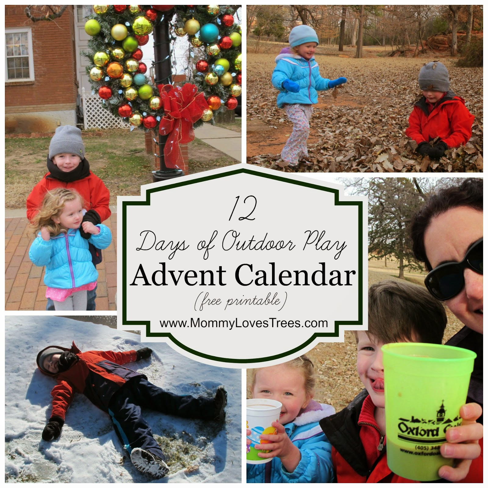 The 12 Days of Outdoor Play Advent Calendar (free printable)