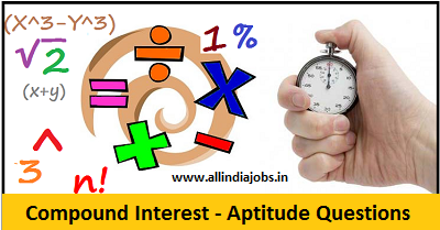 Compound Interest Aptitude Questions and Answers