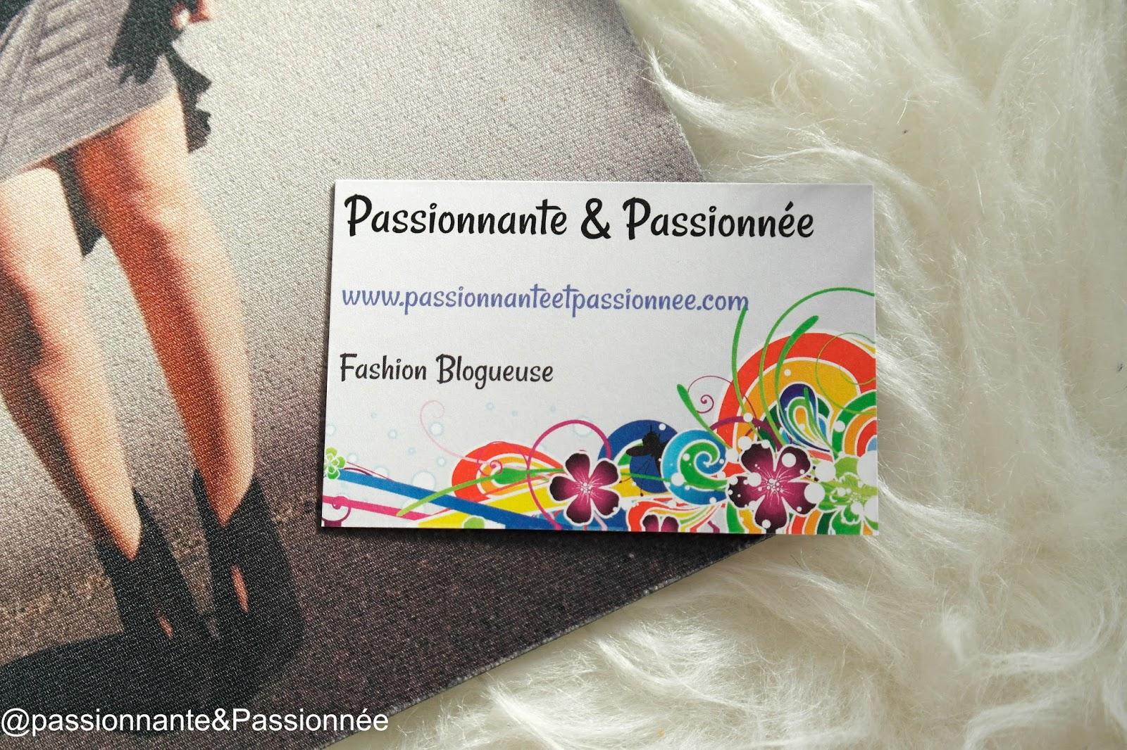 Mes cartes de visites blogueuse mode