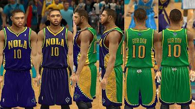 NBA 2K13 New Orleans Hornets Mardi Gras Jersey