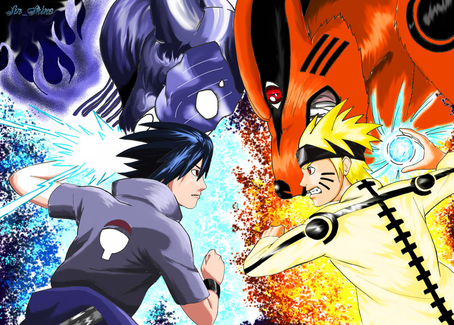 Wallpapers naruto vs sasuke anime ex - Naruto as sasuke ...