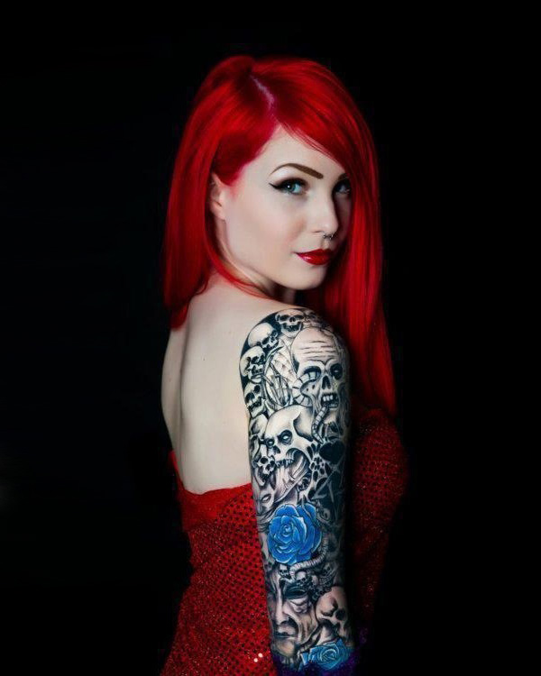 Red girl tattoo