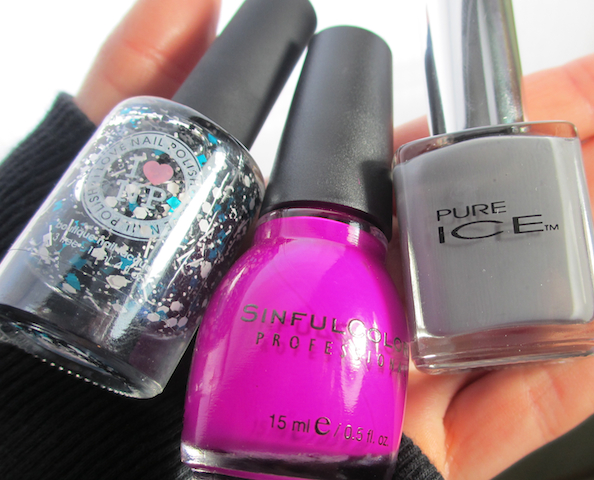 I love Nail Polish Fully Turqued Sinful Colors Dream On Pure Ice Kiss Me Here
