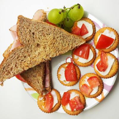 Vollkornsandwich mit Schinken