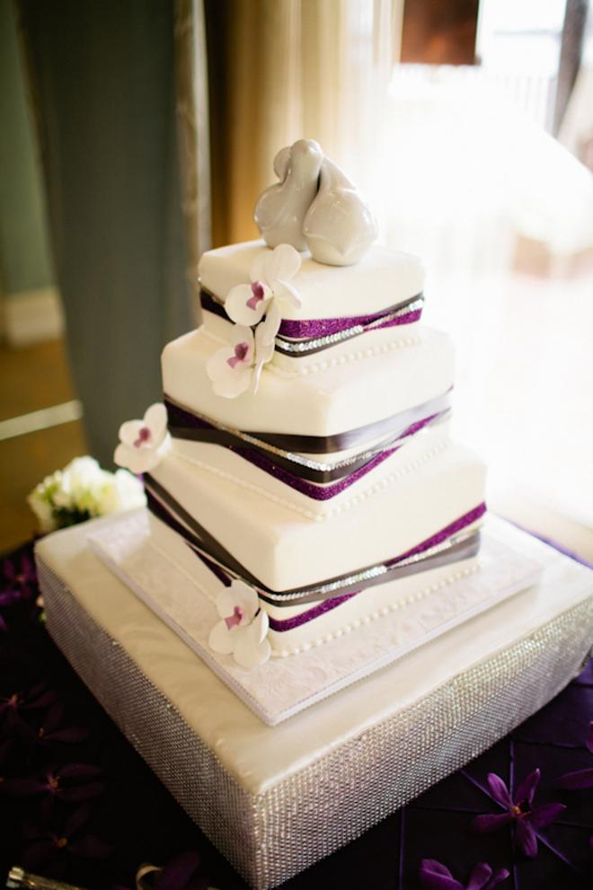 Modern Cake Wedding Ideas Purple Weddings Silver Wedding Beautiful Cakes Purple Wedding Cakes