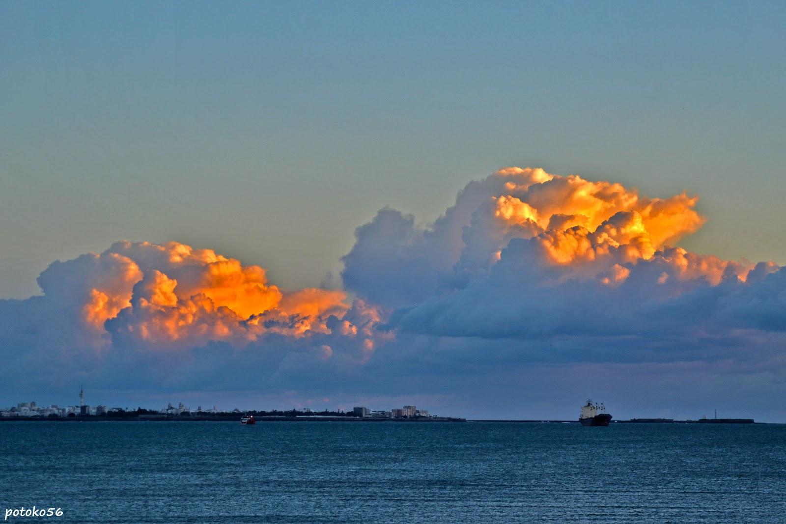 Nubes en Cádiz
