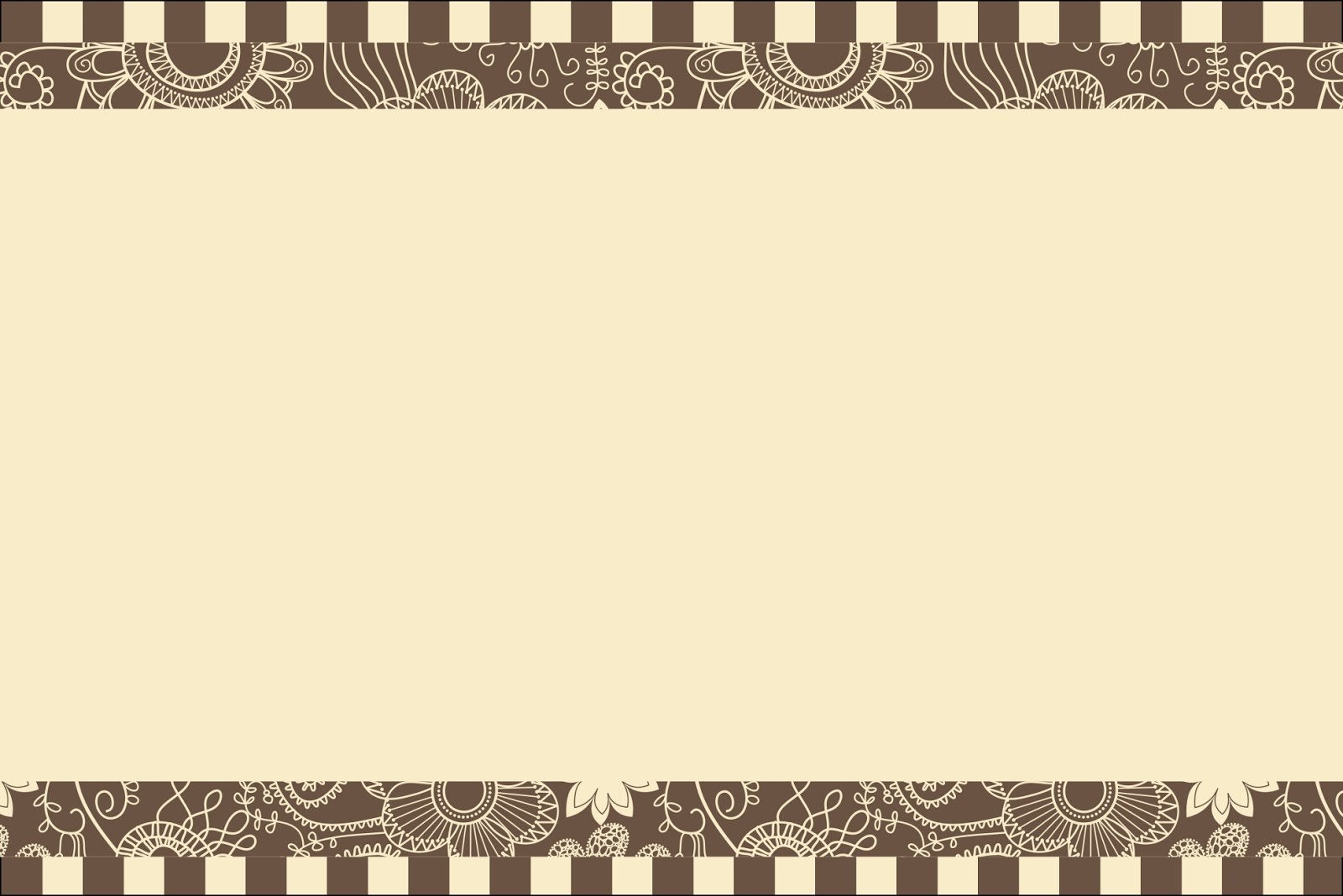 Flowery in Brown and Beige: Free Printables Invitations. | Oh My ...