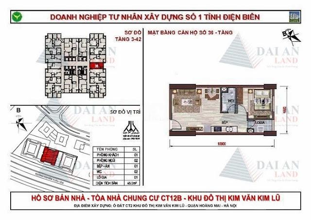 Căn 36 - Tòa CT12B Chung Cư Kim Văn Kim Lũ