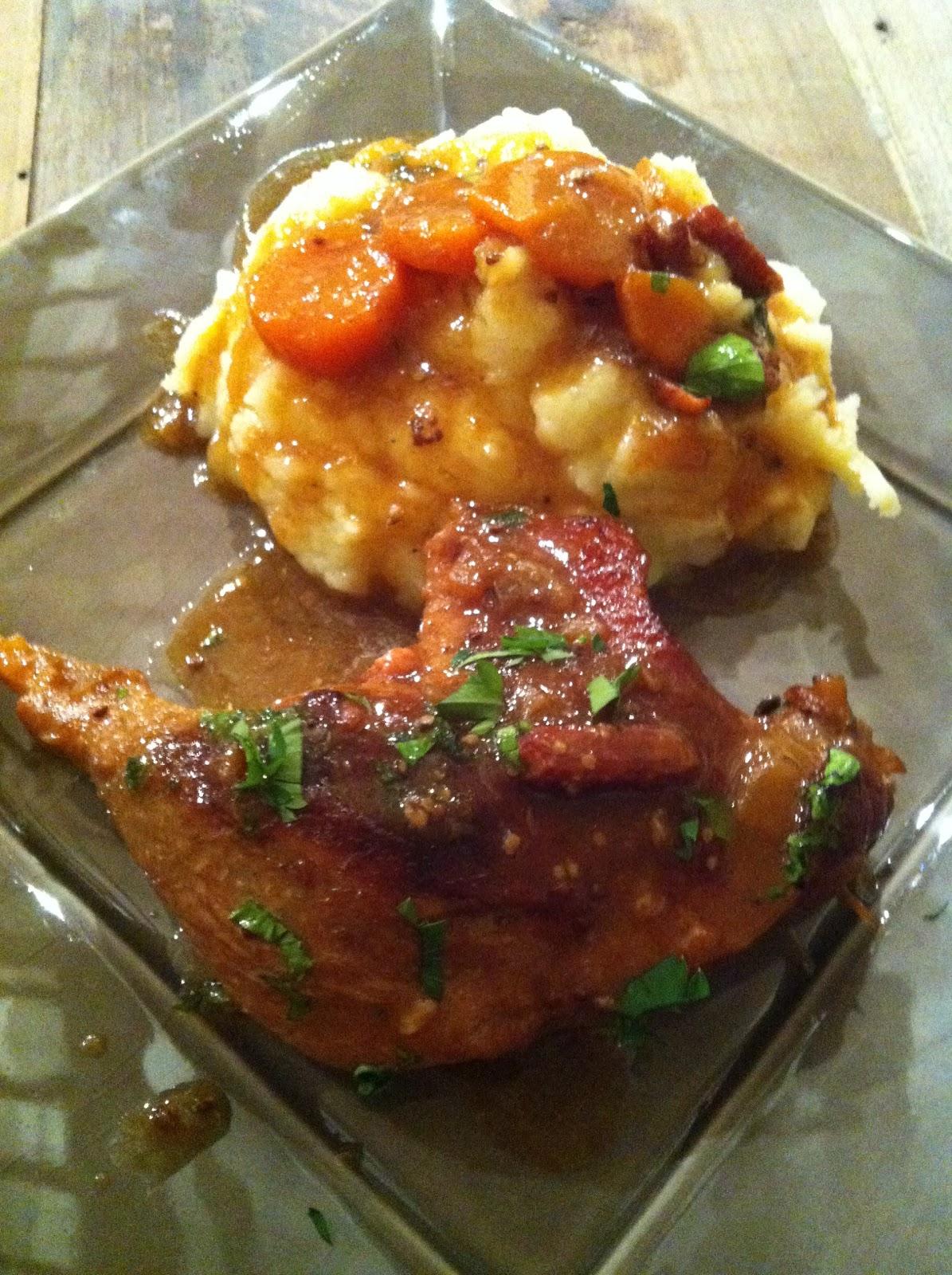 Du piano l 39 assiette cuisse de canard fa on carbonade - Cuisson cuisse de canard ...
