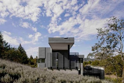 A Small Modern Home Overlooks Olive Trees in Sonoma by Cooper Joseph Studio Seen On www.coolpicturegallery.us