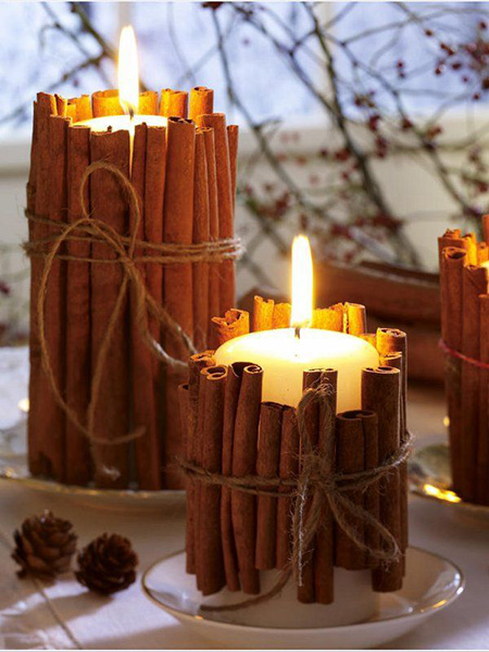 DIY velas canela