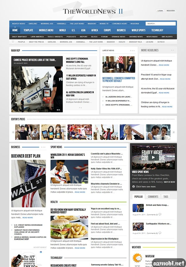 GavicK – GK The World News II v2.14 Template For Joomla 3.0 ...