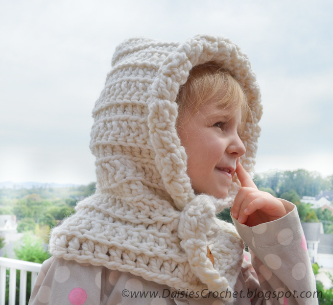 Crochet Patterns Free Hooded Scarf : Daisies Crochet: Crochet HOODED SCARF pattern