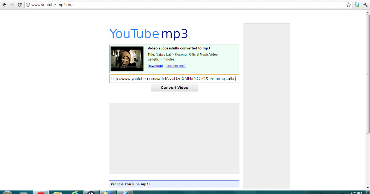 Mal Skema: Cara mudah convert video youtube ke format mp3