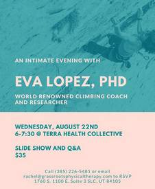 SLC, USA: An Intimate Evening with Eva López: Slide Show+ Q&A; by Terra Health Collective