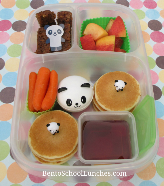 Pancakes Breakfast for Lunch,Bento School Lunches