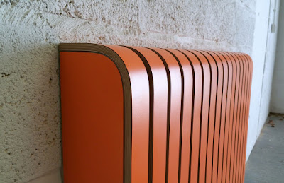 Orange radiator cover