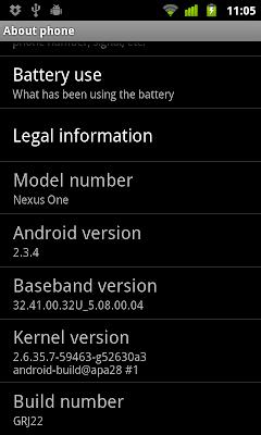 Android 2.3.4@Nexus One