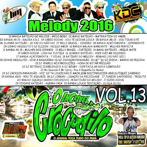 CD CROCODILO MELODY VOLUME 13