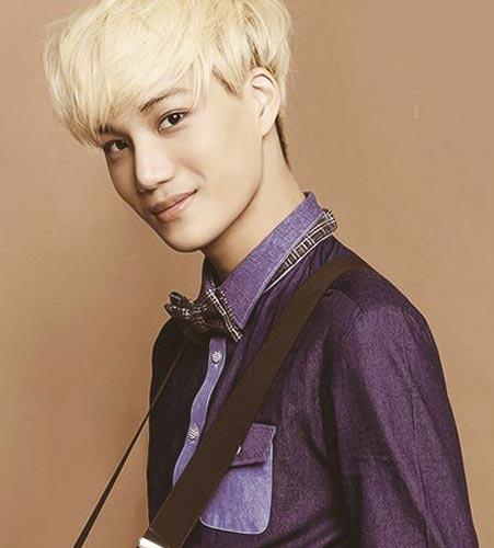 EXO Kai blonde hairstyle