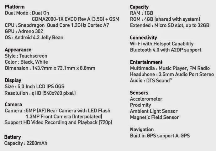 Spesifikasi lengkap Andromax i3s
