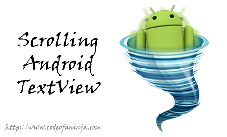 How To Scroll Android TextView