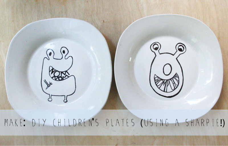 & The Plumed Nest: Make: DIY Childrenu0027s Plates made with Sharpies