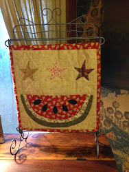 Jan's latest Tutorial - Watermelon Mini Quilt