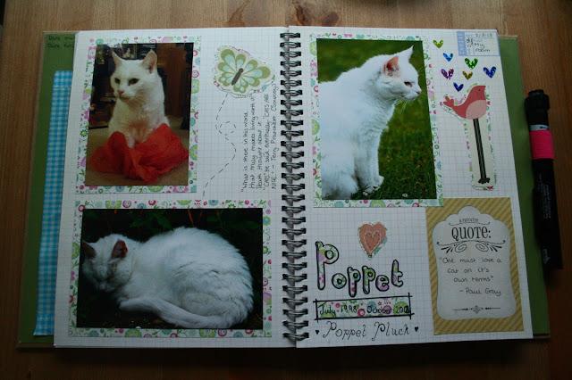 smashbook poppet cat scrapbook