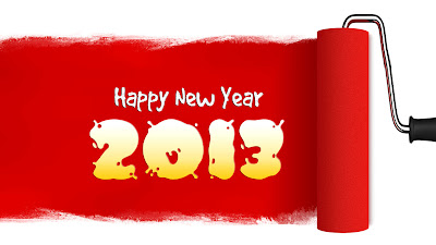Best Happy new year paint wallpaper 2013 Wallpaper