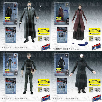 "San Diego Comic-Con 2015 Exclusive Penny Dreadful 6"" Action Figures by Bif Bang Pow! – Sir Malcolm Murray, Vanessa Ives, The Creature & Dr. Victor Frankenstein"