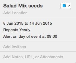 garden seed planner calendar reminder