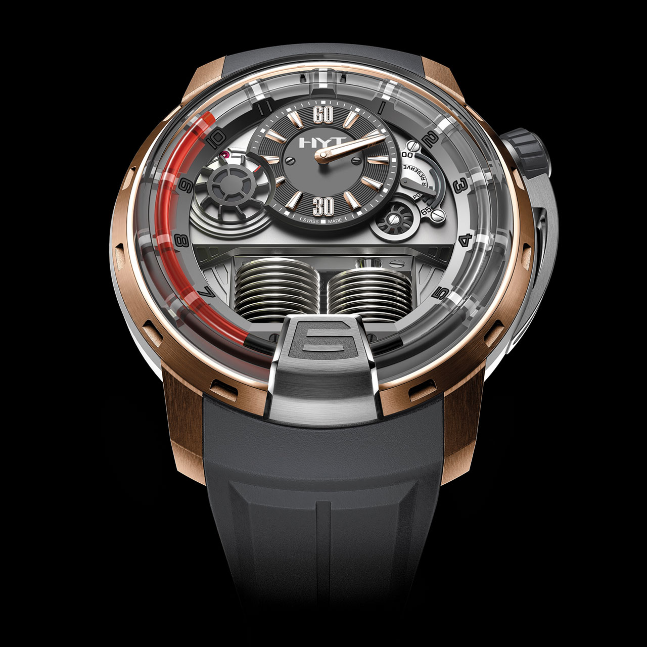 HYT H1 Red2 Mechanical Hand-wound Watch