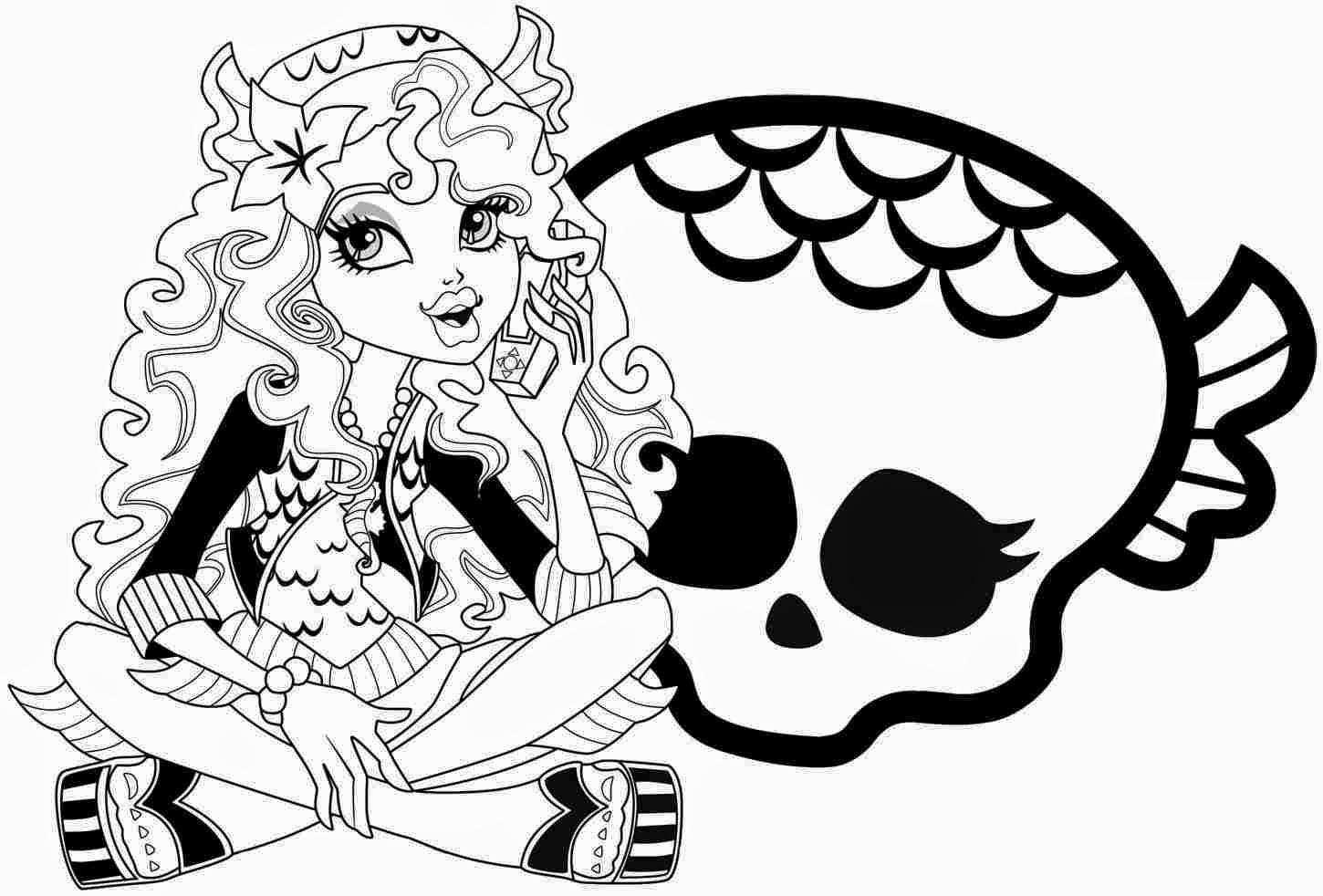 Coloring Pages Monster High Coloring Pages Free and Printable
