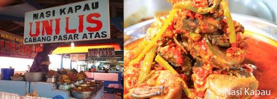 Nasi Kapau Uni Lis Pasar Lereng Bukittinggi