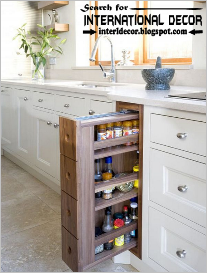 Space saving vertical storage systems, pull out shelves for kitchen