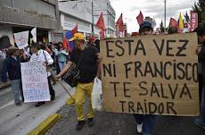 Ecuador, sin paz a tres días de la llegada del Papa