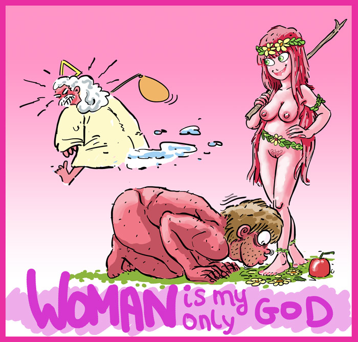 FEMDOM ART -Woman Is My Only God