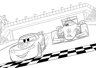 McQueen Francesco colorear Cars2