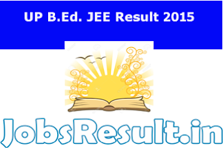 UP B.Ed. JEE Result 2015