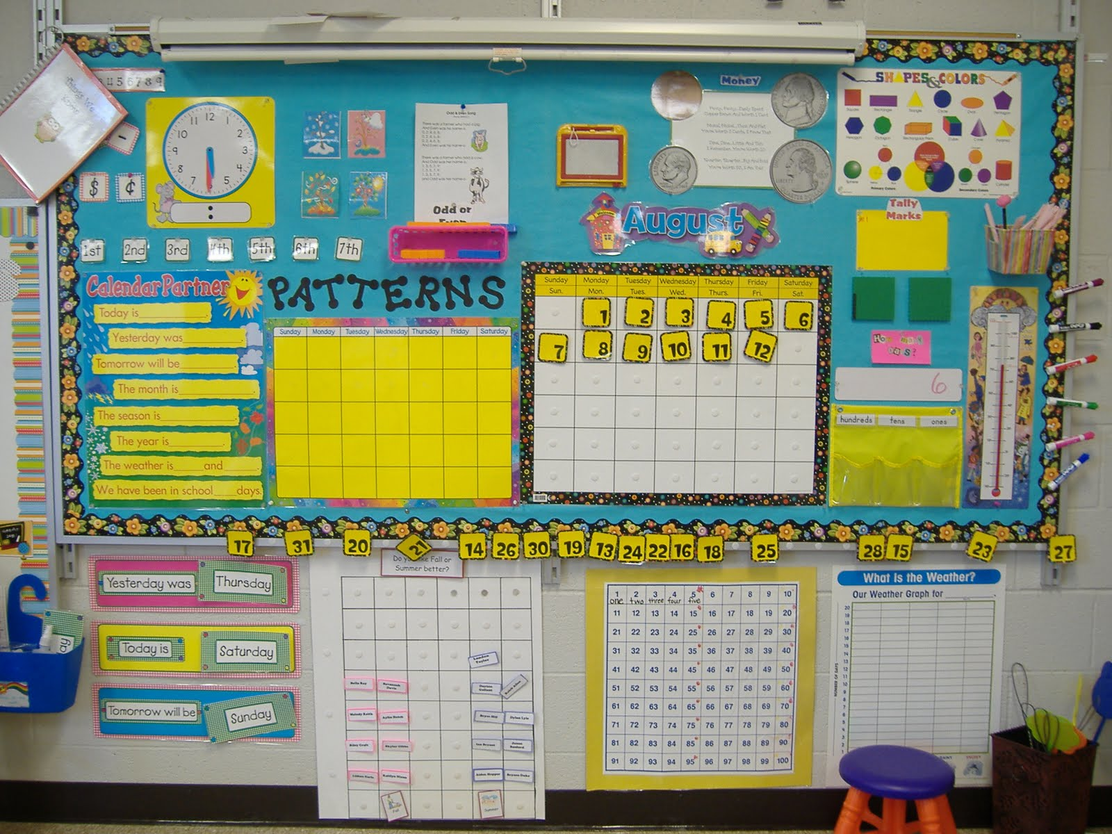 Kindergarten Year Calendar : Mrs oper s kinder class calendar board and tidbits