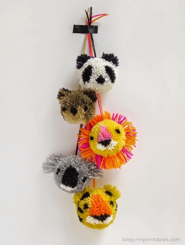 How To Make Flower Yarn Pom Poms
