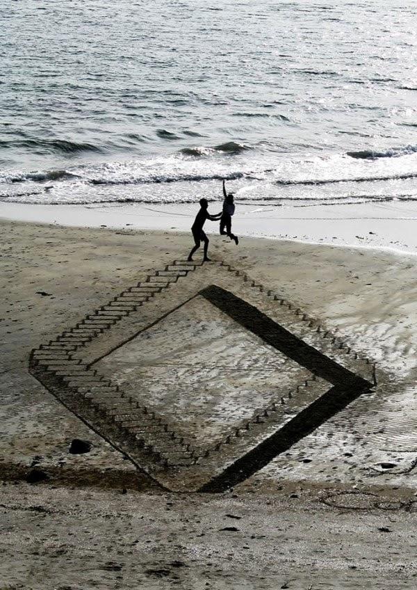 ilusiones 3d en la playa