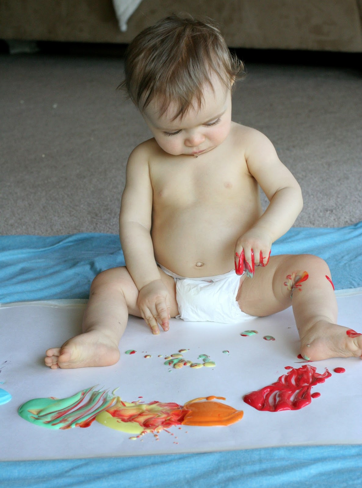 Colour activities babies - Scented Edible No Cook Fingerpaint Recipe For Babies And Toddlers From Fun At Home With