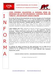 "1546 FIRMAS SOLICITAN A SUSANA DÍAZ EL ARREGLO DE LA VÍA PECUARIA ""CAÑADA REAL DE TARIFA"", EN BENAL"