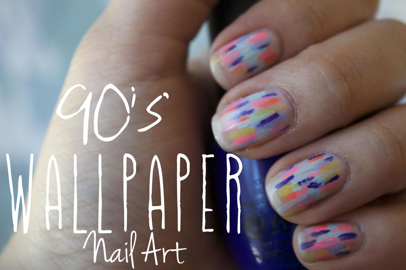90u0027s Wallpaper Inspired Nail Art u2013 Easy