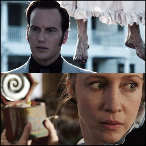 The conjuring 2013, the conjuring movie scene, patrick wilson, vera farmiga, james wan