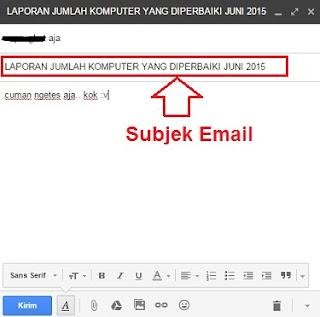 menulis subjek email