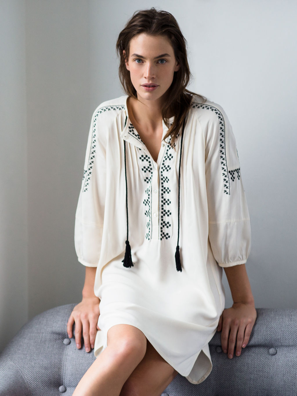 Zara Embroidered Tunic, Boho