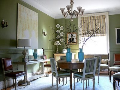 Sage Green Dining Room